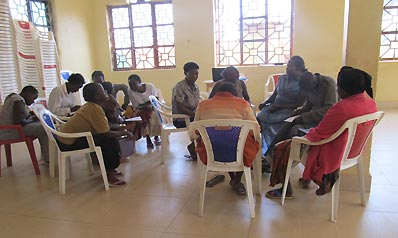 group activity at Kololo women's workshop