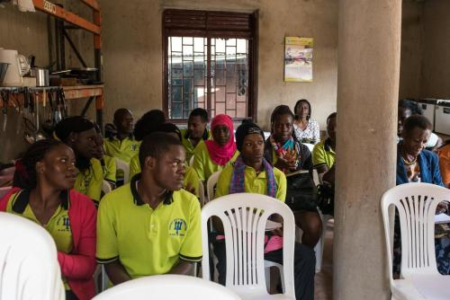 Participants, Mulago Women Positive Club and Mindset 2018 students taking a keen interest.