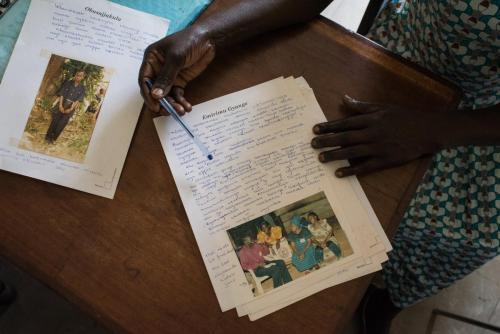 Memory book written in Luganda.